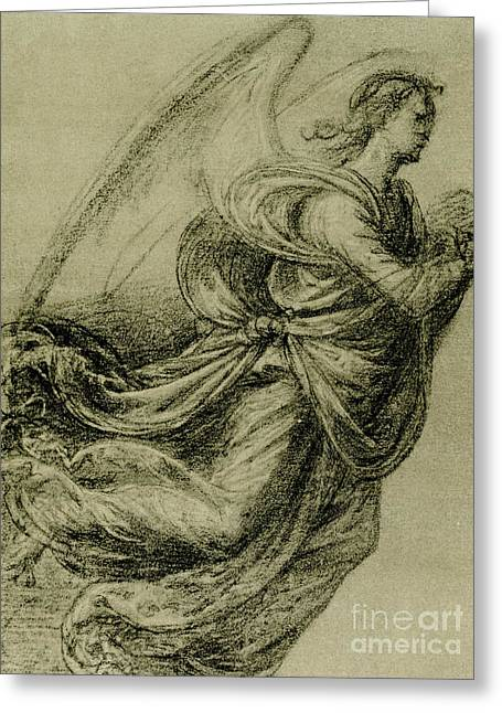Angel Study Greeting Card by Fra Bartolomeo
