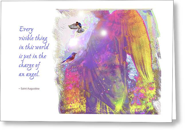 Greeting Card featuring the photograph Angel Vision by Marie Hicks