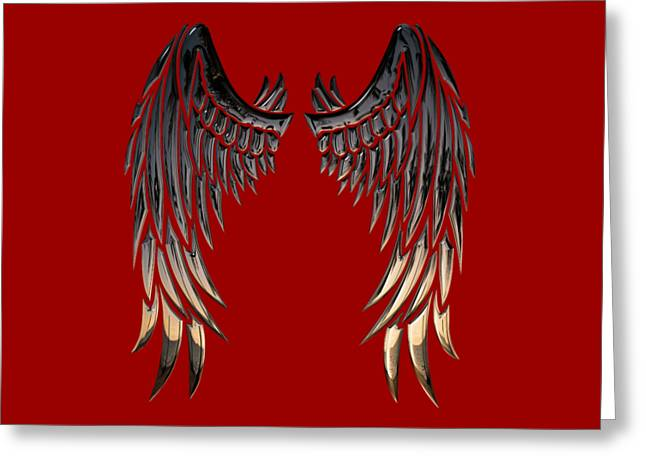 Angel Wings Greeting Card by Cco