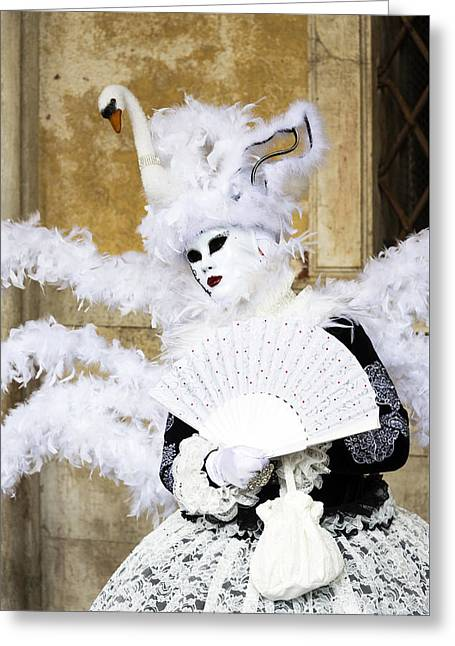 Angel With Swan Detail 2015 Carnevale Di Venezia Italia Greeting Card by Sally Rockefeller