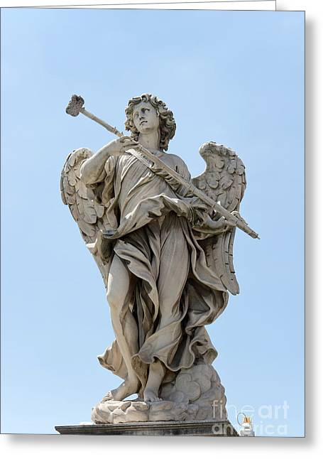 Passione Greeting Cards - Angel with the sponge Greeting Card by Fabrizio Ruggeri