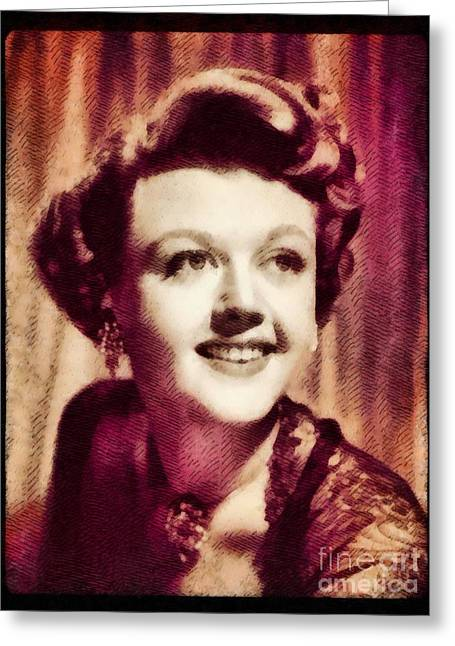 Angela Lansbury, Hollywood Legend By John Springfield Greeting Card by John Springfield