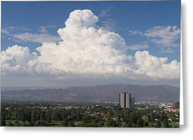 Angeles National Park And Lakeside Golf Club In Southern California Dsc3585sq Greeting Card