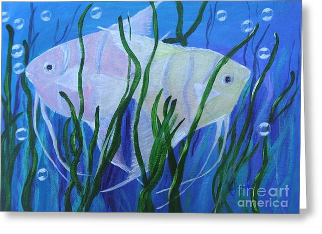 Angelfish Duo Greeting Card