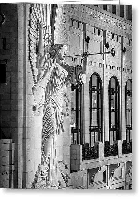 Angelic Blast - Bass Hall Greeting Card by Stephen Stookey