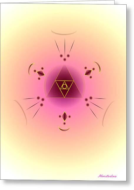 Angelic Code - Psychic Vision Greeting Card by Konstadina Sadoriniou - Adhen