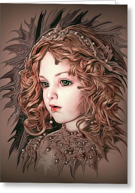 Angelic Doll Greeting Card