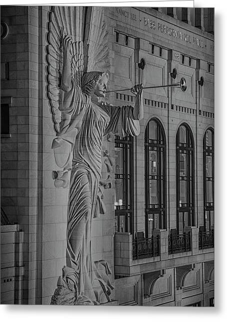 Angelic Herald - Bass Hall Greeting Card by Stephen Stookey