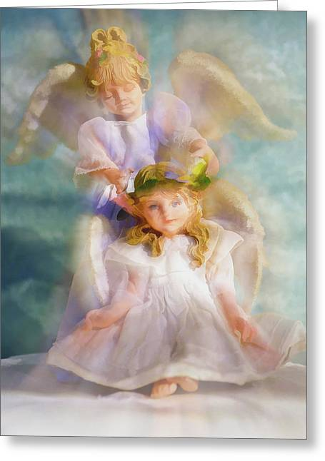 Angelic Greeting Card by Tom Druin