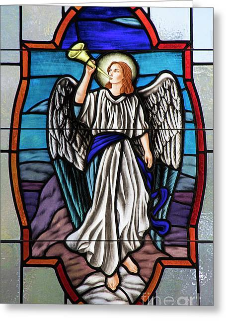 Angelic Trumpet Greeting Card