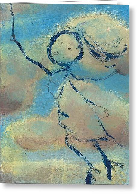 Angelica Sent To Heaven Greeting Card by Ricky Sencion