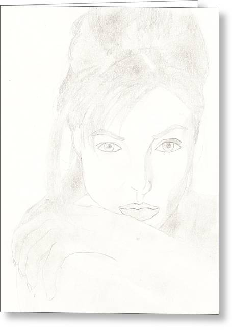 Angelina Greeting Card by Carlos Hyman
