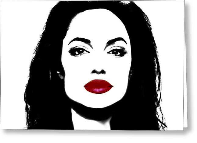 Angelina Jolie 3f Greeting Card