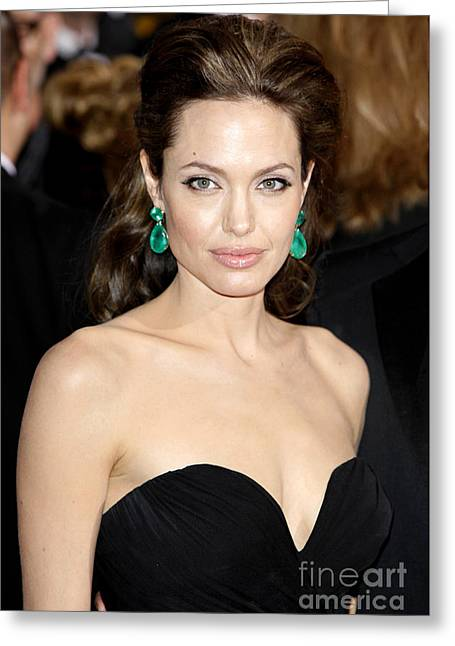 Angelina Jolie Greeting Card by Nina Prommer