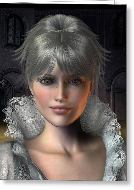 Angelique Greeting Card by David Griffith
