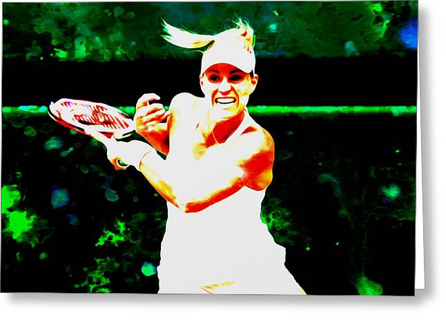 Angelique Kerber 3c Greeting Card by Brian Reaves