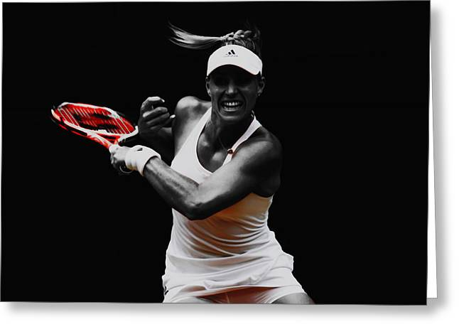 Angelique Kerber 3e Greeting Card by Brian Reaves