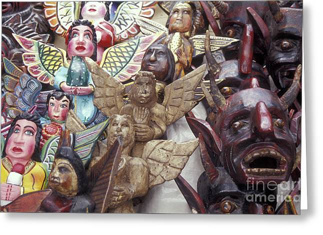 Angels And Devils Taxco Mexico Greeting Card by John  Mitchell