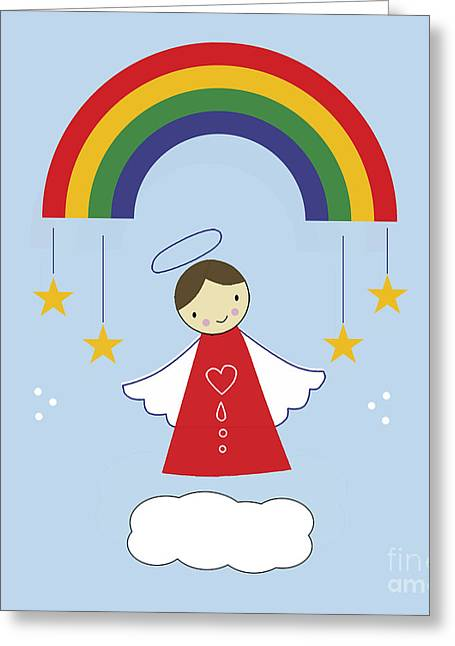 Angels And Rainbows Greeting Card by Kathrin Legg