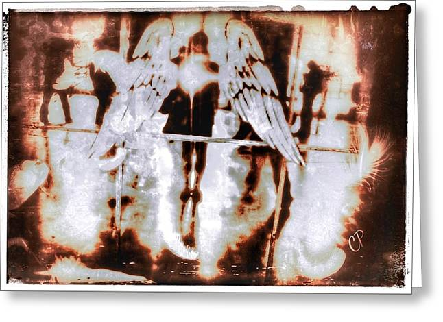 Angels In The Mirror Greeting Card