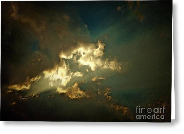 Angels In The Sky Greeting Card by Krissy Katsimbras