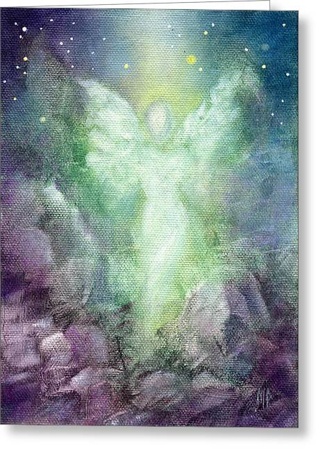 Angel Art Greeting Cards - Angels Journey Greeting Card by Marina Petro