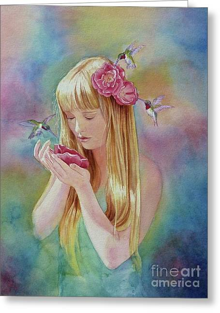 Angel's Nectar Greeting Card