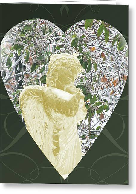 Angels Of The Snow  C Greeting Card by Debra     Vatalaro