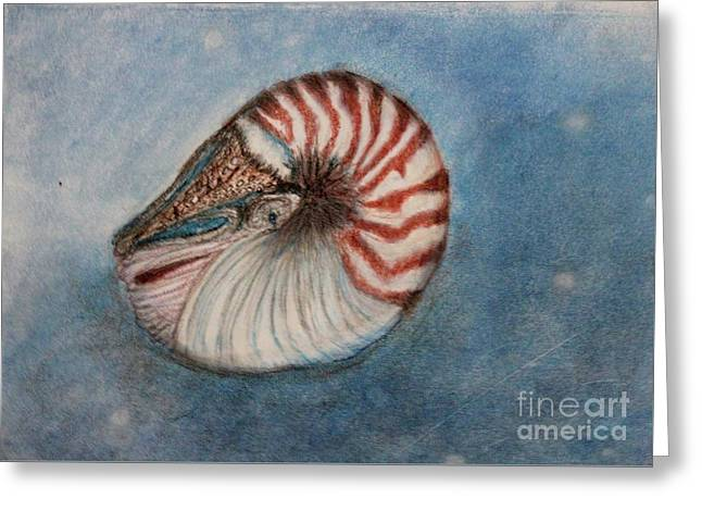 Greeting Card featuring the painting Angel's Seashell  by Kim Nelson