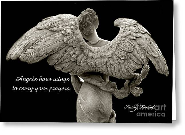 About Angels Greeting Cards - Angels Wings - Inspirational Angel Art Photos Greeting Card by Kathy Fornal