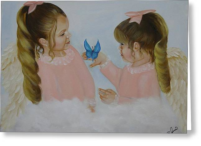 Angel Greeting Cards - Angels with Wings Greeting Card by Joni McPherson