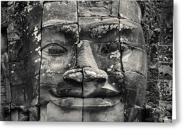 Angkor Face Greeting Card