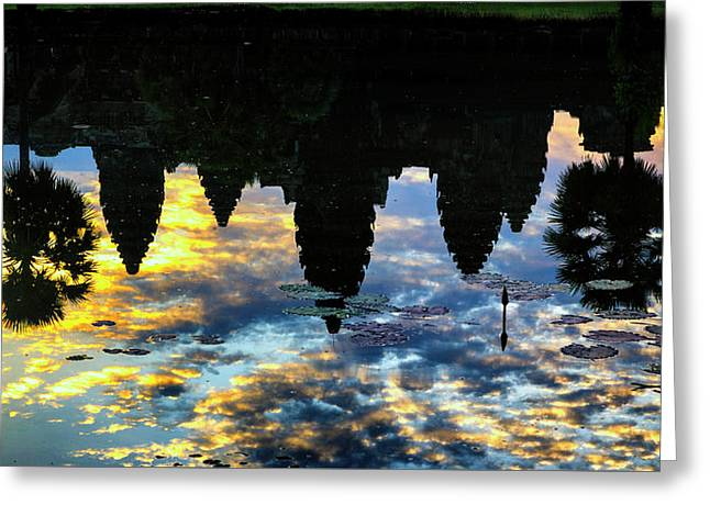 Angkor Reflections Greeting Card