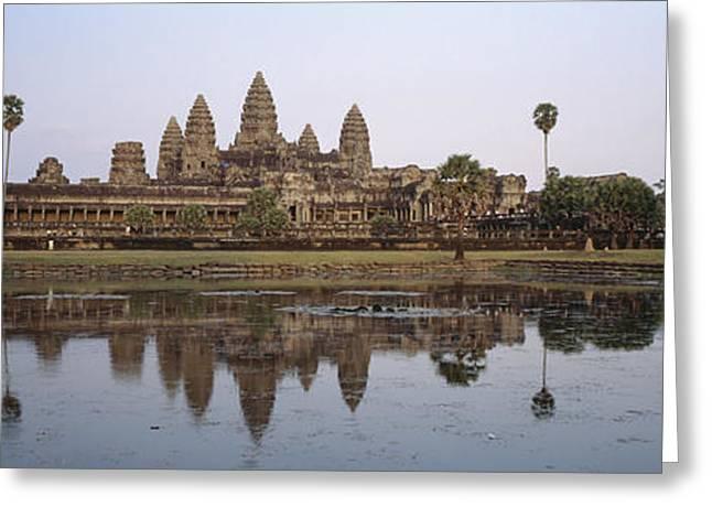 Angkor Wat, A Buddhist Temple Greeting Card by Justin Guariglia