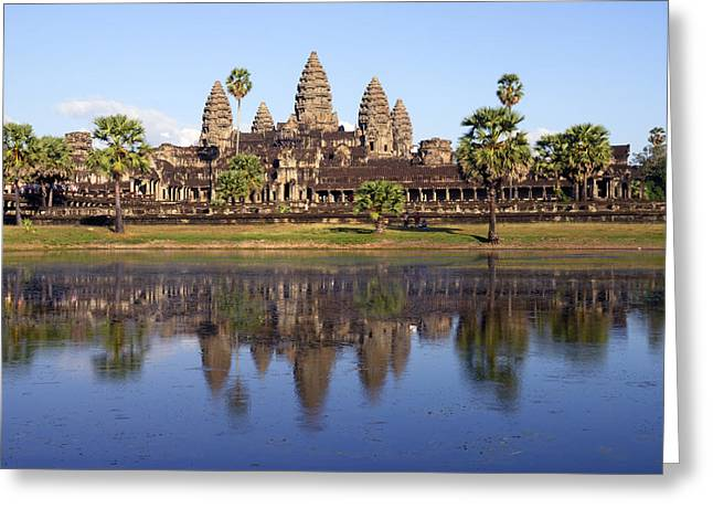 Angkor Wat Greeting Card by Liz Pinchen