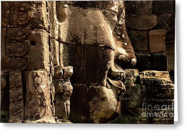 Angkor Wat Banyon Cambodia 2 Greeting Card