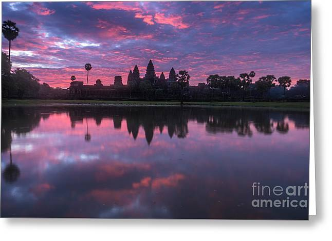 Angkor Wat Sunrise Greeting Card