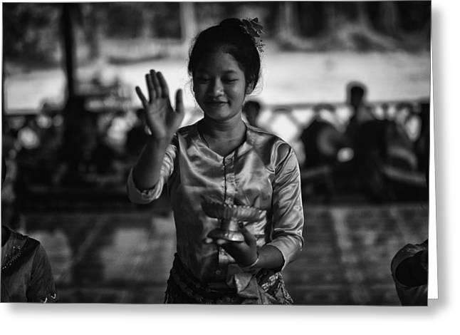 Angkor Wat Temple Dancer 1 Greeting Card by David Longstreath