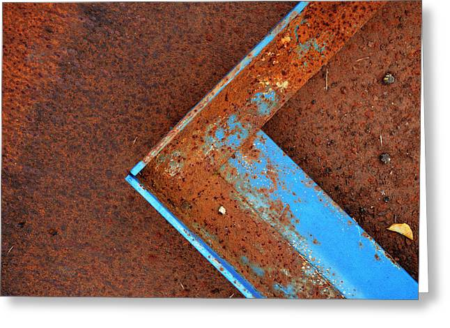 Angle Iron...raw Steel Greeting Card