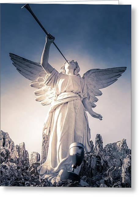 Angel Of Light Greeting Card by Art Spectrum