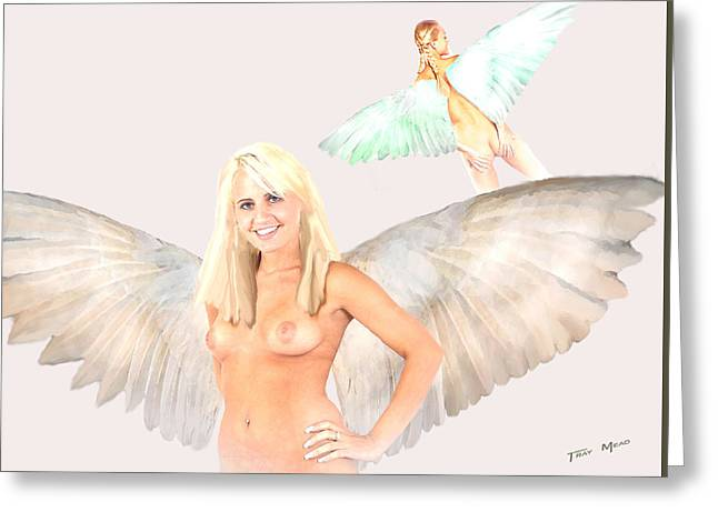 Angle Study Greeting Card by Tray Mead