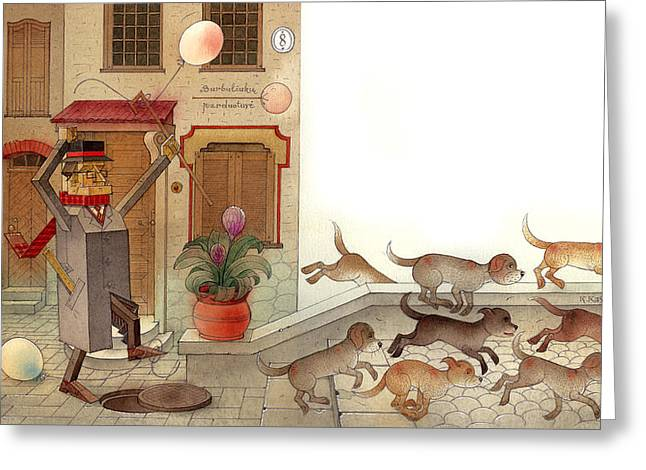 Angleman03 Greeting Card by Kestutis Kasparavicius