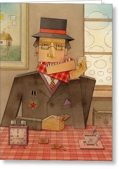 Angleman06 Greeting Card by Kestutis Kasparavicius