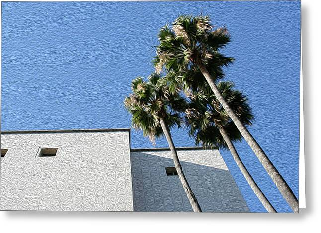 Angles And 3 Palm Tress Greeting Card