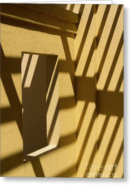 Greeting Card featuring the photograph Angles And Shadows by Brenda Tharp