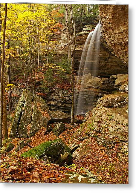 Anglin Falls Berea Kentucky Greeting Card