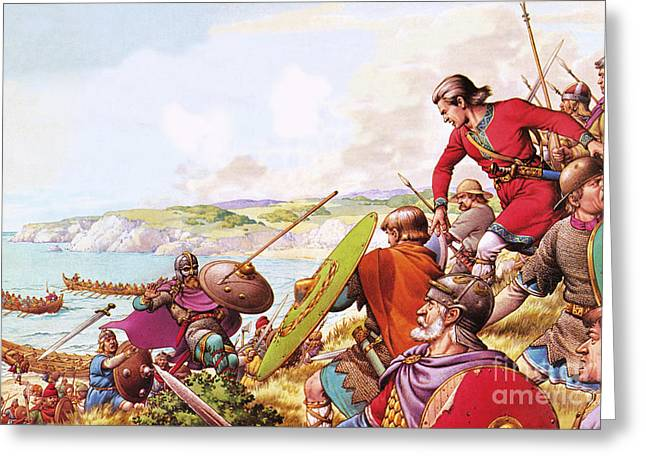 Anglo Saxon Invaders Greeting Card