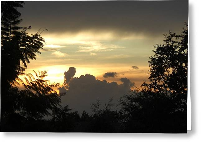 Angry Clouds Rising Greeting Card by Frederic Kohli