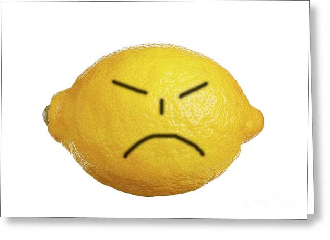 Angry Face Greeting Card by Roland Magnusson