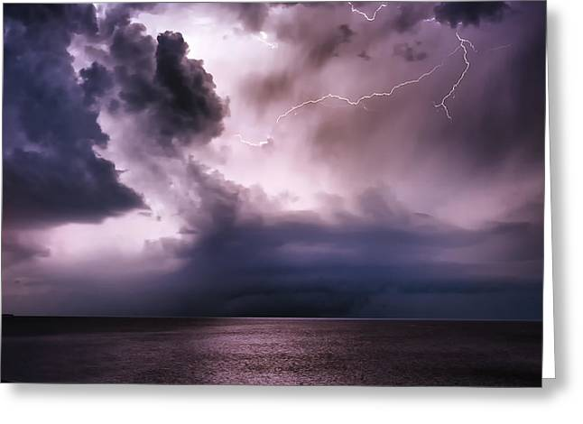 Angry Heavens Greeting Card
